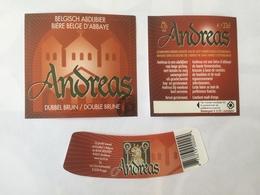 Ancienne étiquette B8 BIERE BELGE - ANDREAS - DUBBEL BRUIN - Bière