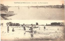 Dépt 45 - SAINT-DENIS-DE-L'HÔTEL - La Loire - Le Pont Suspendu - La Plage - (Éditeur : L. Lenormand) - Multi-vues - Otros Municipios