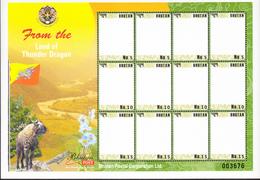 BHUTAN 2010 MNH Personalized Stamp Sheetlet Blanc RARE! - Bhutan