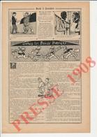 2 Scans Humour De 1908 Revue Des Pompiers Casque à Chenille Pompier 223CH22 - Ohne Zuordnung