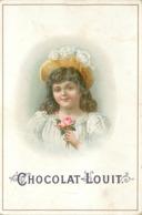 CHOCOLAT LOUIT- Enfants Portraits ; Lot De 4 Chromos (format 10,5cm X 7cm) - Louit