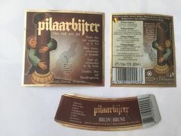 Ancienne étiquette B8 BIERE BELGE - PILAARBIJTER - BIERE BRUNE - Bière