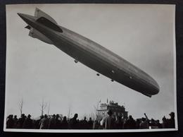 Orginal Foto (11x8) Zeppelin (LZ127) Kurz Vor Der Landung - Chemnitz 16.11.1930 (1461) - Aviation