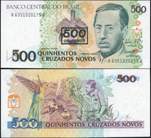Brazil 500 Cruzeiros. ND (1990) Unc Overprint. Banknote Cat# P.226b - Brazil