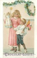 CHOCOLAT LOUIT- Thème De Noël ; Lot De 4 Chromos (format 10,5cm X 7cm) - Louit
