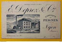 60306 - E.Duprez & Cie Fabrique De Peignes Nyon Suisse - Cartes De Visite