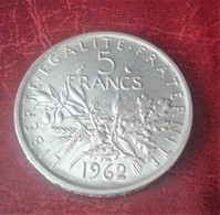 5 FRANCS SEMEUSE ARGENT 1962  Voir Photos  (B15 12) - J. 5 Francs