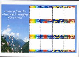 BHUTAN 2009 MNH Personalized Stamp Sheetlet Himalayan Kingdom Blanc RARE! - Bhutan