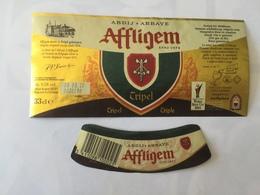 Ancienne étiquette B8 BIERE BELGE - AFFLIGEM - BIERE TRIPLE - Bière