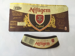 Ancienne étiquette B8 BIERE BELGE - AFFLIGEM - BIERE DOUBLE - Bière