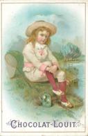 CHOCOLAT LOUIT- Enfants  ; Lot De 4 Chromos (format 10,5cm X 7cm) - Louit