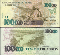 Brazil 100000 Cruzeiros. ND (1993) Unc. Banknote Cat# P.235b - Brazil