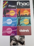 Lot 9 Giftcards Switzerland - Cartes Cadeaux