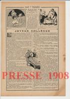 2 Scans Humour 1908 Fiction ?? à Farémont-en-Barrois Conducteur Des Ponts-et-Chaussées César Burgui Trigoulet 223CH22 - Ohne Zuordnung
