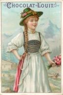 CHOCOLAT LOUIT- Costumes Folkloriques  ; Lot De 2 Chromos (format 10,5cm X 7cm) - Louit