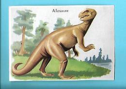 MINI-IMAGE---ALLOSAURE--( Allosaurus )--voir 2 Scans - Chromos