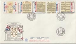 France FDC Grand Format 1989 Droits De L'homme B2605A - FDC