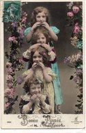 ENFANTS 974 : Bonne Année Par Quatre Fillettes - Enfants