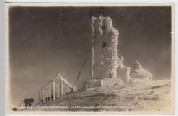 (29972) AK Schneekoppe, Kapelle Wetterwarte U. Preussenbaude 1930 - Sudeten