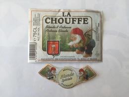Ancienne étiquette B8 BIERE BELGE - LA CHOUFFE - BLONDE - Bière