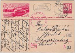 Schweiz - 20 Rp. Bildganzsache Eberengadin - St. Gallen 1944 OKW-Zensur N. - Ganzsachen