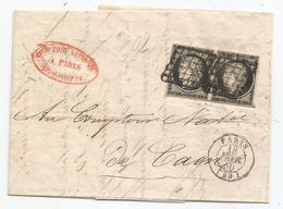 - SEINE - PARIS - Grille Noire S/Paire Du TP Type Cérès N°3 + Càd Type 15 - 1850 - 1849-1850 Cérès