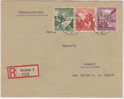 DR - 40+6+8 Pfg. WHW, Einschreibebrief (2.Gew.st.) Potsdam - Seehof 1939 - Deutschland