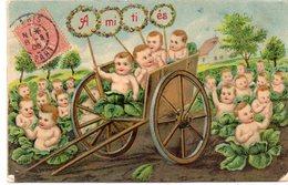 ENFANTS 977 : Gaufré : Amitiés ; Bébés Dans Les Choux - Enfants