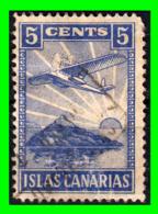 ESPAÑA SELLO VIÑETA DE 5 CENTIMOS DE LAS ISLAS CANARIAS DE LA GUERRA CIVIL - Tasse Di Guerra