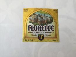 Ancienne étiquette B8 BIERE BELGE - FLOREFFE - BIERE D'ABBAYE TRIPLE - Bière