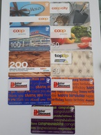 Lot 9 Coop Giftcards Switzerland - Cartes Cadeaux