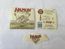 Ancienne étiquette B8 BIERE BELGE - HAPKIN - Bière