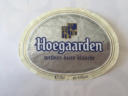 Ancienne étiquette B8 BIERE BELGE - HOEGAARDEN - BIERE BLANCHE - Bière