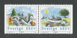 SUEDE 2001 - YT 2195/2196 - Facit 2236/2237 - Neuf ** MNH - Paire Horizontale - Année Lunaire Chinoise Du Serpent - Unused Stamps
