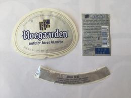 Ancienne étiquette B9 BIERE BELGE - HOEGAARDEN - BIERE BLANCHE - Bière