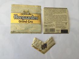 Ancienne étiquette B9 BIERE BELGE - HOEGAARDEN - GRAND CRU - Bière