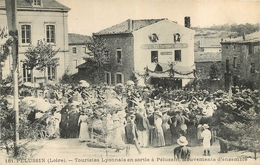 PELUSSIN TOURISTES LYONNAIS EN SORTIE A PELUSSIN - Pelussin