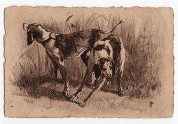 ANIMAUX - CHIEN * DOG * CHIENS DE CHASSE *GRAVURE De PF * Style EAUX FORTES * - Dogs