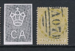 DOMINICA, 1883 0.5d Yellow-olive Wmk Crown CA Used, Cat GBP11 - Dominique (...-1978)