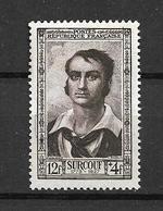 """FRANCE 1951  N° 894  Célébrités Du XIX  ème Siecle """" Robert Baron Surcouf """"  NEUF - Unused Stamps"""