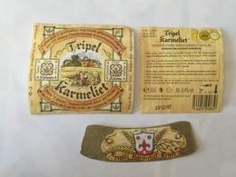 Ancienne étiquette B9 BIERE BELGE - TRIPLE KARMELIET - Bière