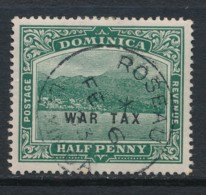 DOMINICA, 1916 Halfpenny WAR TAX Used, SG56, Cat GBP6 - Dominique (...-1978)