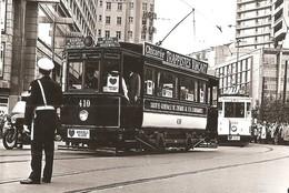 PHOTO TRAM BRUXELLES POLICE PUBLICITE CHICOREE TRAPPISTE VINCART REPRO - Tramways