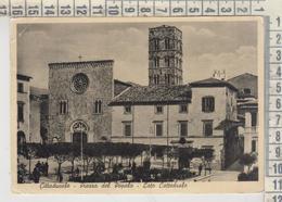 CITTADUCALE RIETI PIAZZA DEL POPOLO LATO CATTEDRALE 1954 - Rieti