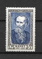 """FRANCE 1952  N° 931  Célébrités Du XIX  ème Siecle """" Edouard Manet """"  NEUF - Unused Stamps"""