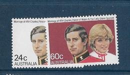 Australie N°733- 734** Et 740-741** - 1980-89 Elizabeth II