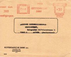 28 IV 61  Roodfrankering Rotterdam Op Envelop Met Firmalogo  Firmalogo Naar Aachen - Postal History