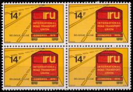 Belgium 1807** X 4  Congrés Transport  MNH - Belgium