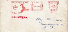 03 XI 61  Roodfrankering Venlo Op Krantebandje Naar Blerick - Postal History