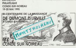 Vieux  Papier : Calvados : Condé Sur Noireau :  , Amicale  Philathélique Condéenne, Dumont D ' Urville,genre Carte - Ohne Zuordnung